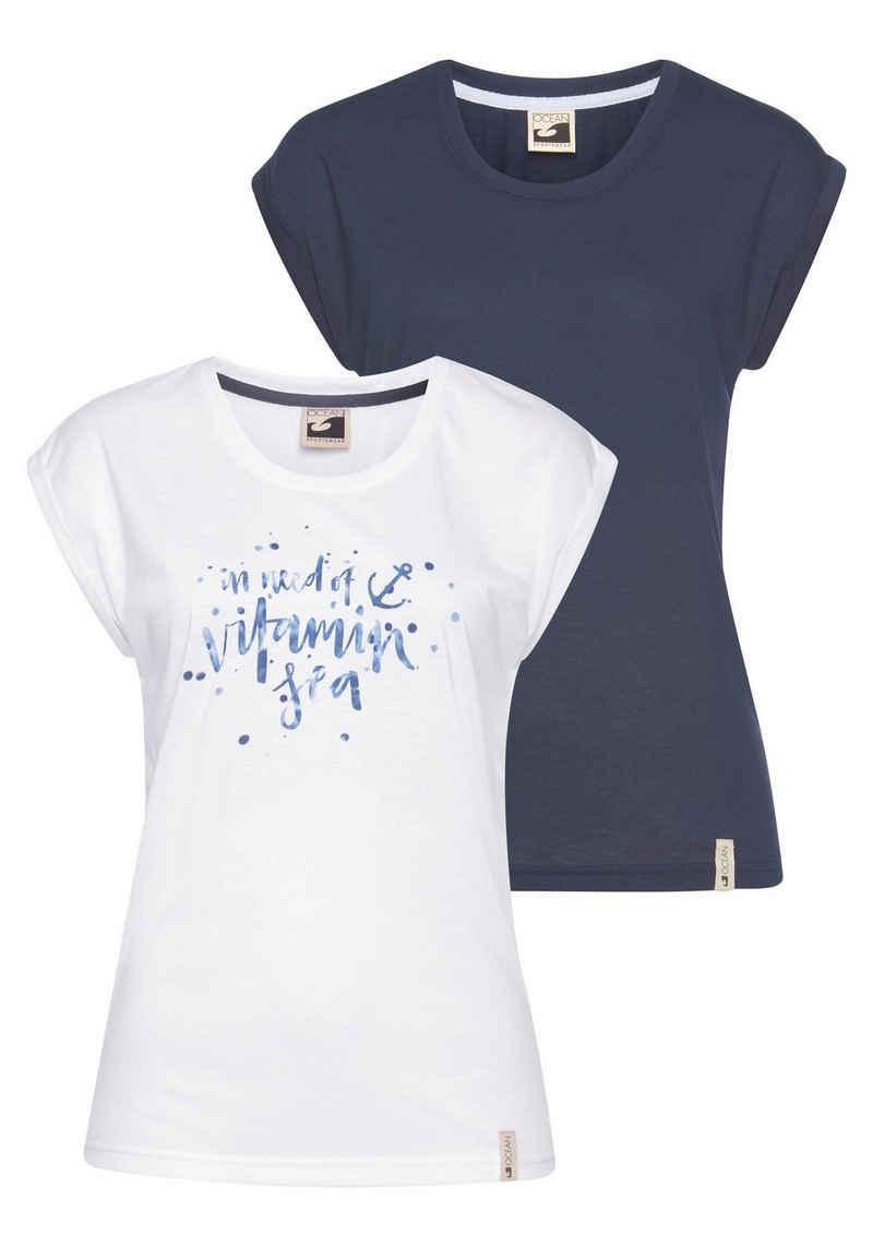 Ocean Sportswear T-Shirt (Packung, 2er-Pack) in Viskose-Qualität