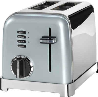 Cuisinart Toaster CPT160GE, 2 kurze Schlitze, für 2 Scheiben, 900 W, mit 6 Bräunungsstufen und Auftau-, Aufwärm- und Stop-Funktion, extra breite Toastschlitze, Retro Design