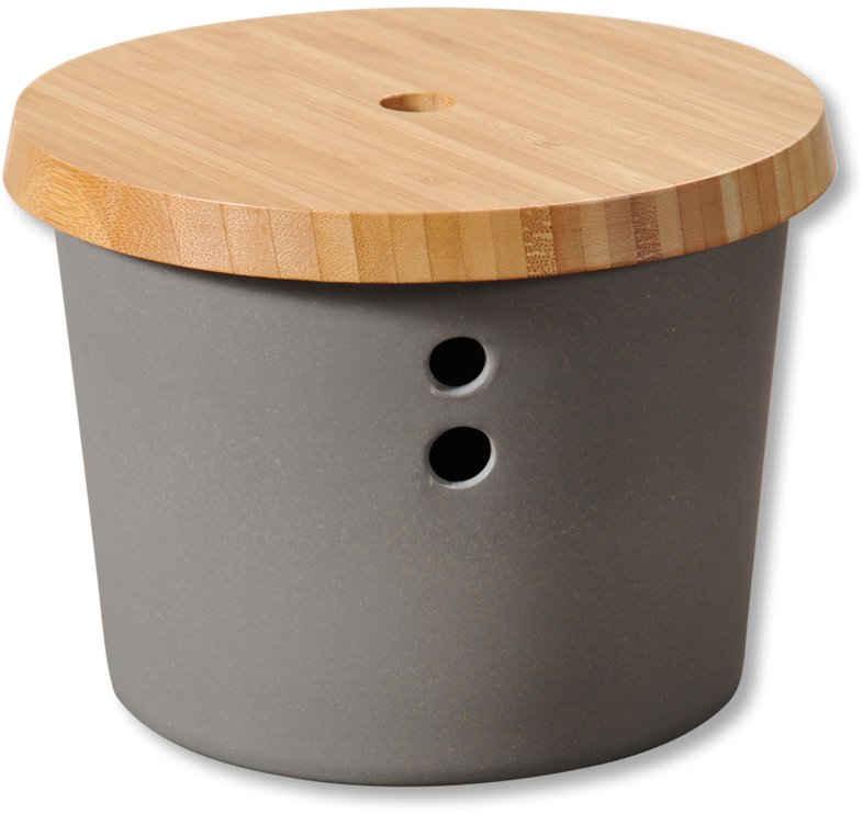 KESPER for kitchen & home Vorratsdose, Kunststoff, Bambus, (1-tlg), Ø 19 cm