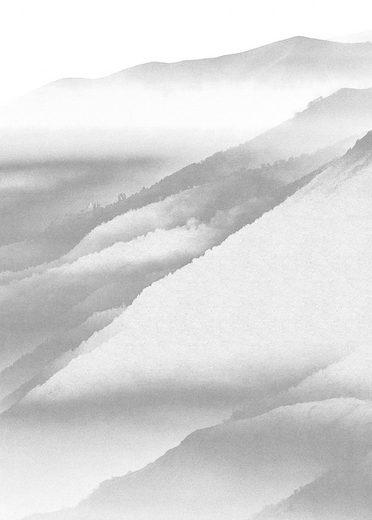 KOMAR Packung: Fototapete »White Noise Mountain«, aus Vlies