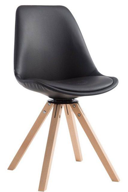 Stühle und Bänke - CLP Esszimmerstuhl »Calais square« drehbarer und mit eckigen Holzbeinen  - Onlineshop OTTO