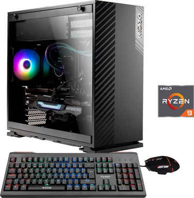 Hyrican Alpha 6616 Gaming-PC (AMD Ryzen 9 5900X, RTX 3060 Ti, 32 GB RAM, 2000 GB SSD, Wasserkühlung)