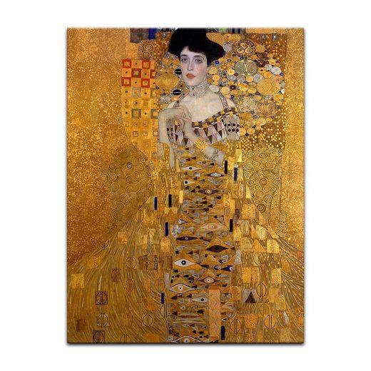 Bilderdepot24 Leinwandbild, Leinwandbild - Gustav Klimt - Adele Bloch - Bauer I