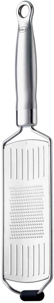 RÖSLE Küchenreibe, Edelstahl 18/10, (1-St), Feinreibe in Profiqualität für Parmesan, Gewürze und Zitrone, mit Silikonstandfuß, ergonomischem Griff und Aufhängeöse