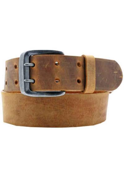AnnaMatoni Ledergürtel Mit Doppeldorn-Schließe im Vintage-Look