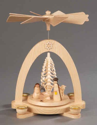 Albin Preissler Weihnachtspyramide »Christi Geburt«, Höhe ca. 20 cm, Handwerkskunst aus dem Erzgebirge