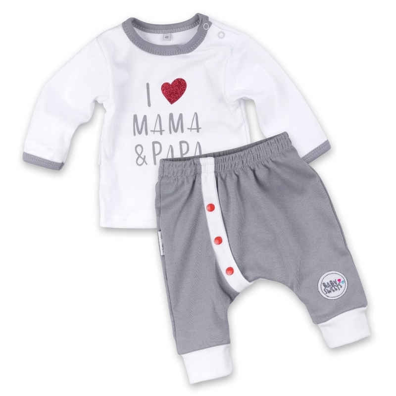 Baby Sweets Shirt & Hose »2tlg Set Shirt + Hose I love Mama & Papa« (2-tlg)
