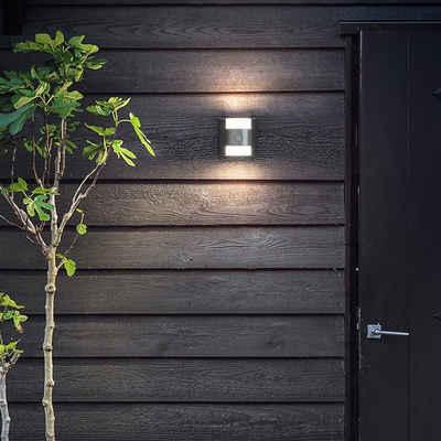 Philips Gartenleuchte »Zeitlose myGarden Außenwandleuchte Gras aus Alumin«, Aussenlampe mit Bewegungsmelder, Sensorleuchte