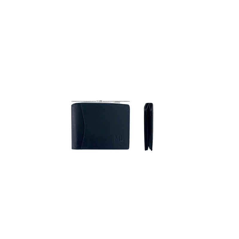 MLOGICO Geldbörse »RFID Geldbörse Echt Leder Portemonnaie Geldbeutel Herren Uni Damen Schwarz«, RFID SCHUTZ