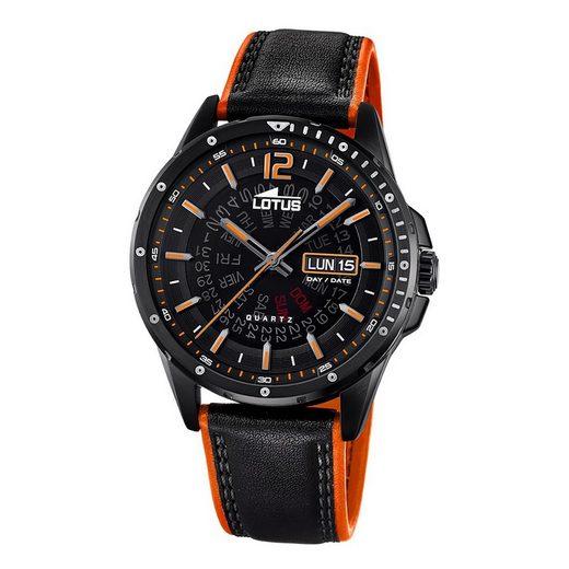 Lotus Multifunktionsuhr »UL18525/1 Lotus Herren-Armbanduhr schwarz orange«