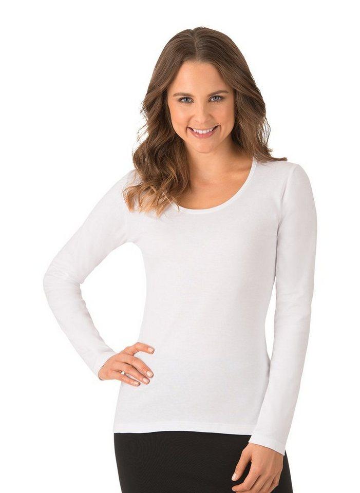 trigema -  Langarmshirt aus elastischem Feinripp