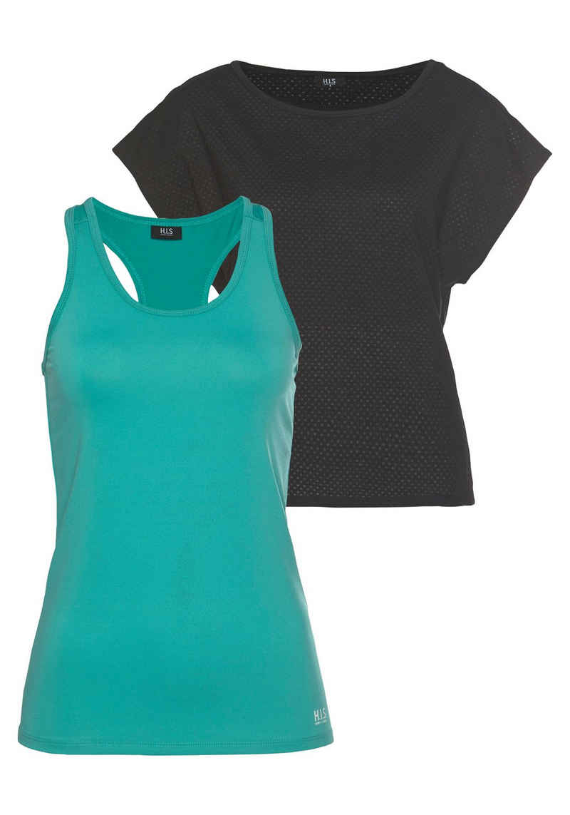 H.I.S Trainingsshirt »2-tlg. Shirt & Top« (Spar-Set, 2-tlg)