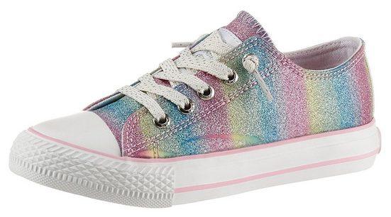 Dockers by Gerli Slip-On Sneaker im Regenbogen-Farbverlauf