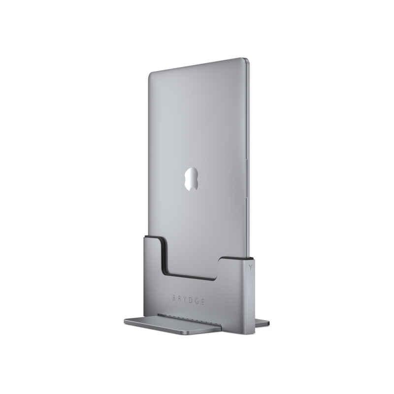 BRYDGE Laptop-Dockingstation »Vertical Docking Station, vertikaler Laptop Ständer fürs MacBook mit 2x Thunderbolt 3 mit 40 Gb/s, space grau«