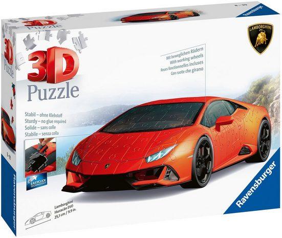Ravensburger 3D-Puzzle »Lamborghini Huracan Evo«, 108 Puzzleteile, mit drehbaren Rädern; Made in Europe, FSC® - schützt Wald - weltweit