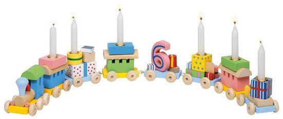 goki Kerzenständer »Geburtstagszug, Lok mit 7 Anhängern«