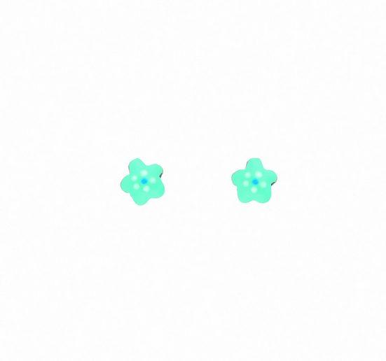 Adelia´s Paar Ohrhänger »925 Silber Ohrringe / Ohrstecker Blüte - blau«, 925 Sterling Silber Silberschmuck für Damen