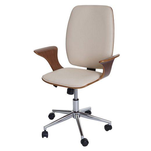 MCW Schreibtischstuhl »MCW-C54« Wipptechnik, Härtegrad einstellbar, Sitzschale mit integrierten Armlehnen