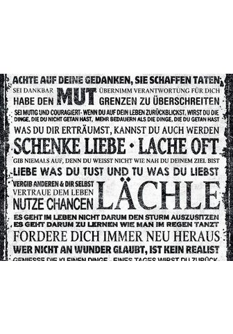 living walls Bordüre »pop.up Panel« glatt su Schrif...