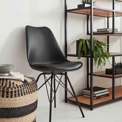 Homexperts Esszimmerstuhl »Ursel 01« (Set, 2 Stück), Sitzschale mit Sitzkissen in Kunstleder