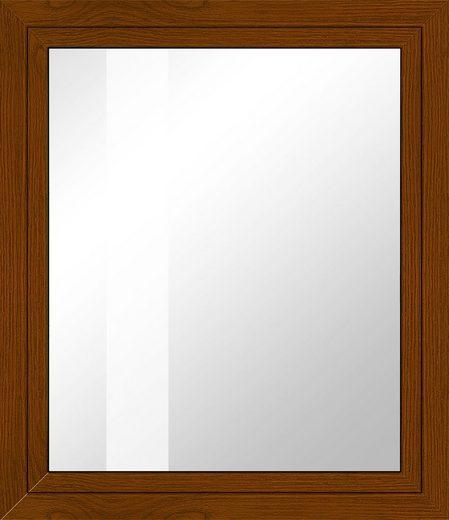 RORO Kunststoff-Fenster »Classic 400«, BxH: 75x75 cm, eichefarben-dunkel, in 2 Varianten