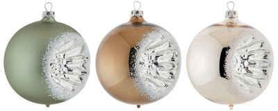 Thüringer Glasdesign Weihnachtsbaumkugel »Nature« (3 Stück), Reflexkugeln