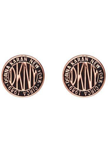 DKNY Paar Ohrstecker »Logo Token Stud ER (RG), 5520033«, mit Emaille
