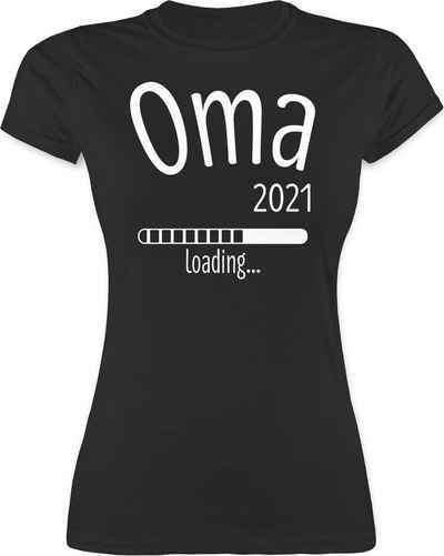 Shirtracer T-Shirt »Oma 2021 loading - Oma Geschenk - Damen Premium T-Shirt« Geburtstagsgeschenk für Oma