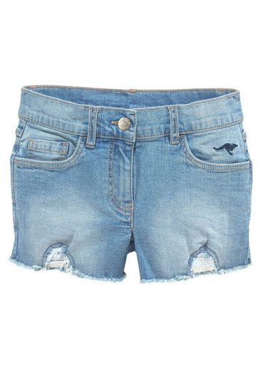 KangaROOS Jeansshorts mit kleiner Logostickerei