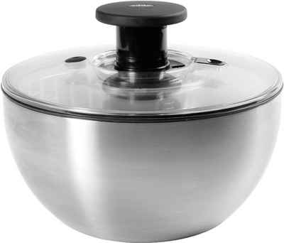 OXO SteeL Salatschleuder »OXO«, patentierter Pumpmechanismus, 6 Liter