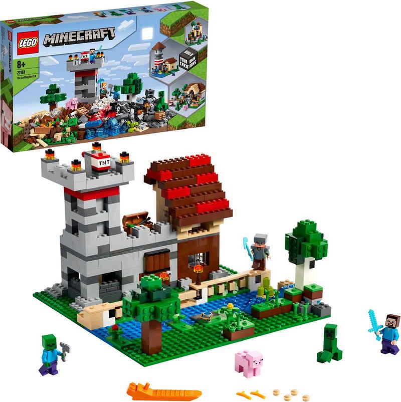 LEGO® Konstruktionsspielsteine »Die Crafting-Box 3.0 (21161), LEGO® Minecraft™«, (564 St), Made in Europe