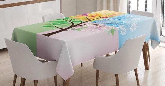 Abakuhaus Tischdecke »Personalisiert Farbfest Waschbar Für den Außen Bereich geeignet Klare Farben«, Baum 4 Jahreszeiten Baum Umwelt