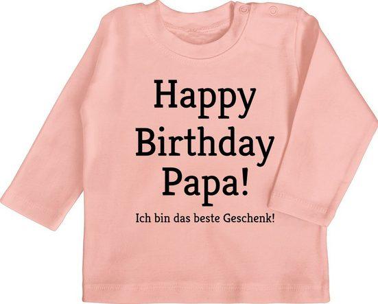 Shirtracer T-Shirt »Happy Birthday Papa! Ich bin das beste Geschenk! - Event Geschenke Baby - Baby T-Shirt langarm« Anlass Deko Kleidung Strampler Babykleidung
