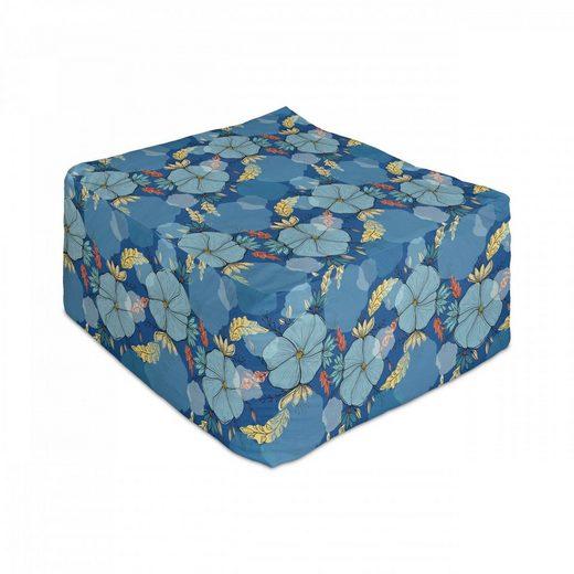 Abakuhaus Pouf »Unter Tisch Fußhocker für Wohnzimmer Büro Ottomane mit Abdeckung«, Blume Doodle Blumen Boho Frühling
