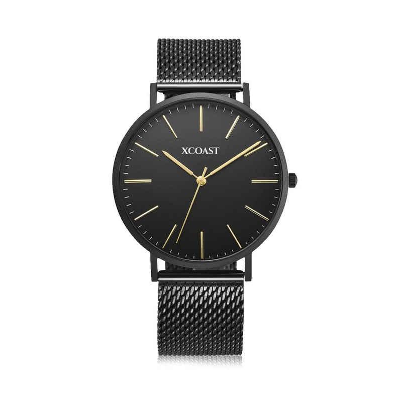 XCOAST Quarzuhr »570203 MERIDIUM Black«, elegante Damen und Herren Armbanduhr