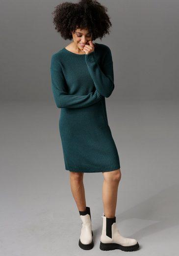 Aniston CASUAL Strickkleid mit Rundhals-Ausschnitt - NEUE KOLLEKTION