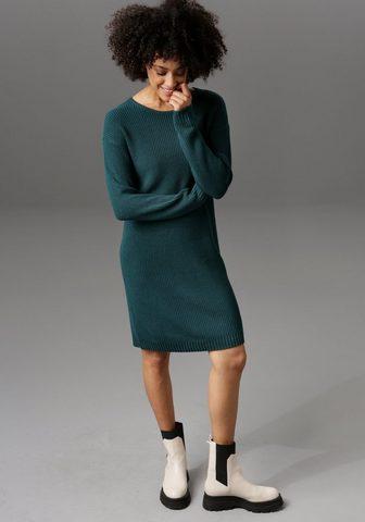 Aniston CASUAL Megzta suknelė su Rundhals-Ausschnitt ...