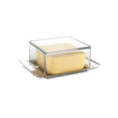 GEFU Butterdose »Butterdose 125g BRUNCH«, Glas / Edelstahl, (1-tlg)