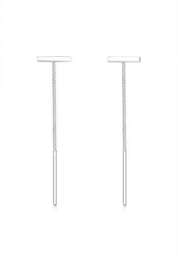Elli Paar Ohrhänger »Geo Stift Trend Minimal Basic 925 Sterling Silber«, Ear Chain