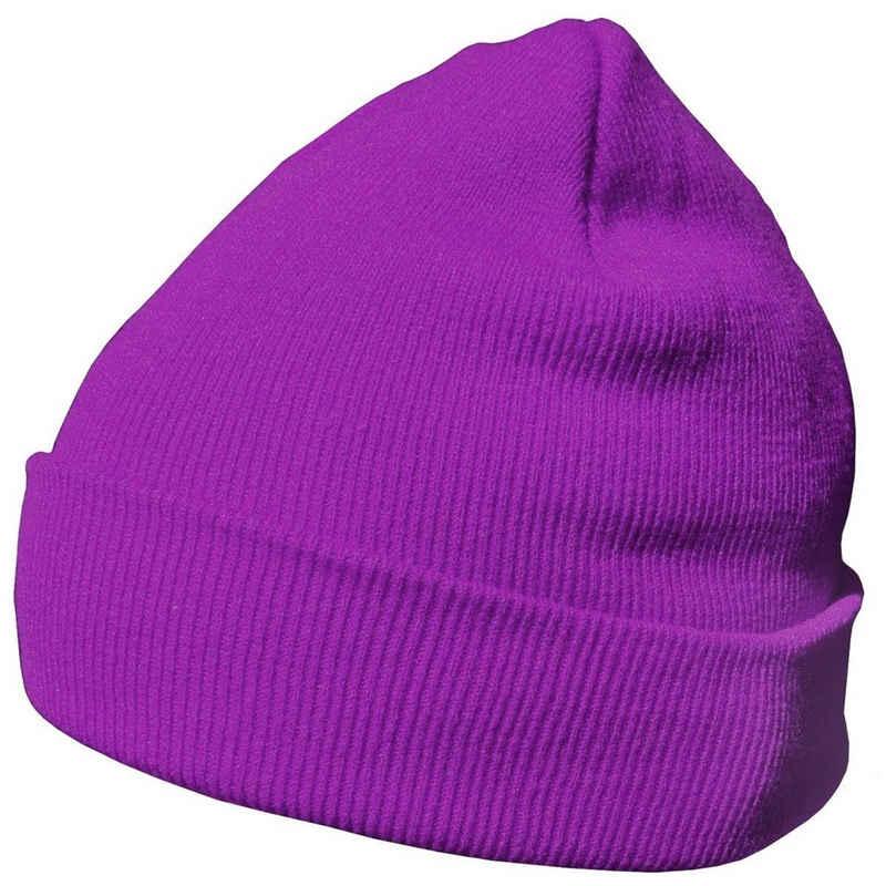 DonDon Beanie »Mütze Beanie« (Packung, 1-St) Wintermütze, klassisches Design, mit Krempe