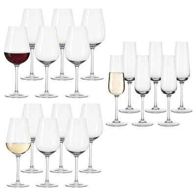 LEONARDO Gläser-Set »TIVOLI Rotwein Weißwein Sekt Gläser 18er Set«, Glas