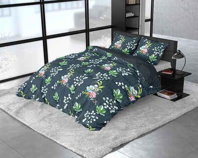 Bettbezug »DREAMHOUSE BOTANICAL NATURE LEAVES -Bettbezug +Kissenbezüge«, Sitheim-Europe (2 St), Der Satin sorgt für einen leichten Glanz