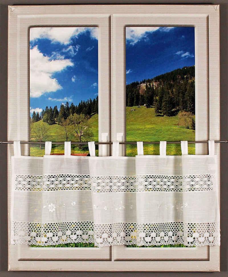 Querbehang »Drachensee«, HOSSNER - ART OF HOME DECO, Schlaufen (1 Stück), m. Spitze