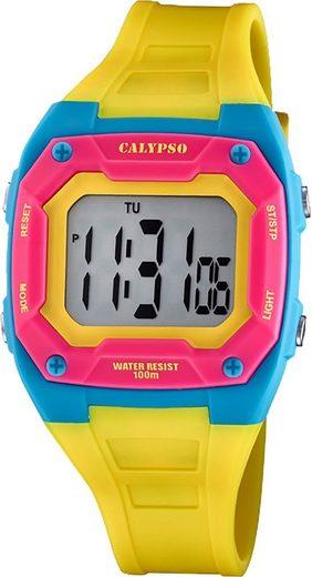 CALYPSO WATCHES Digitaluhr »UK5813/2 Calypso Kinder Jugend Uhr Digital K5813/2«, (Digitaluhr), Kinder, Jugenduhr eckig, mittel (ca. 39mm), Kunststoffarmband, Fashion-Style