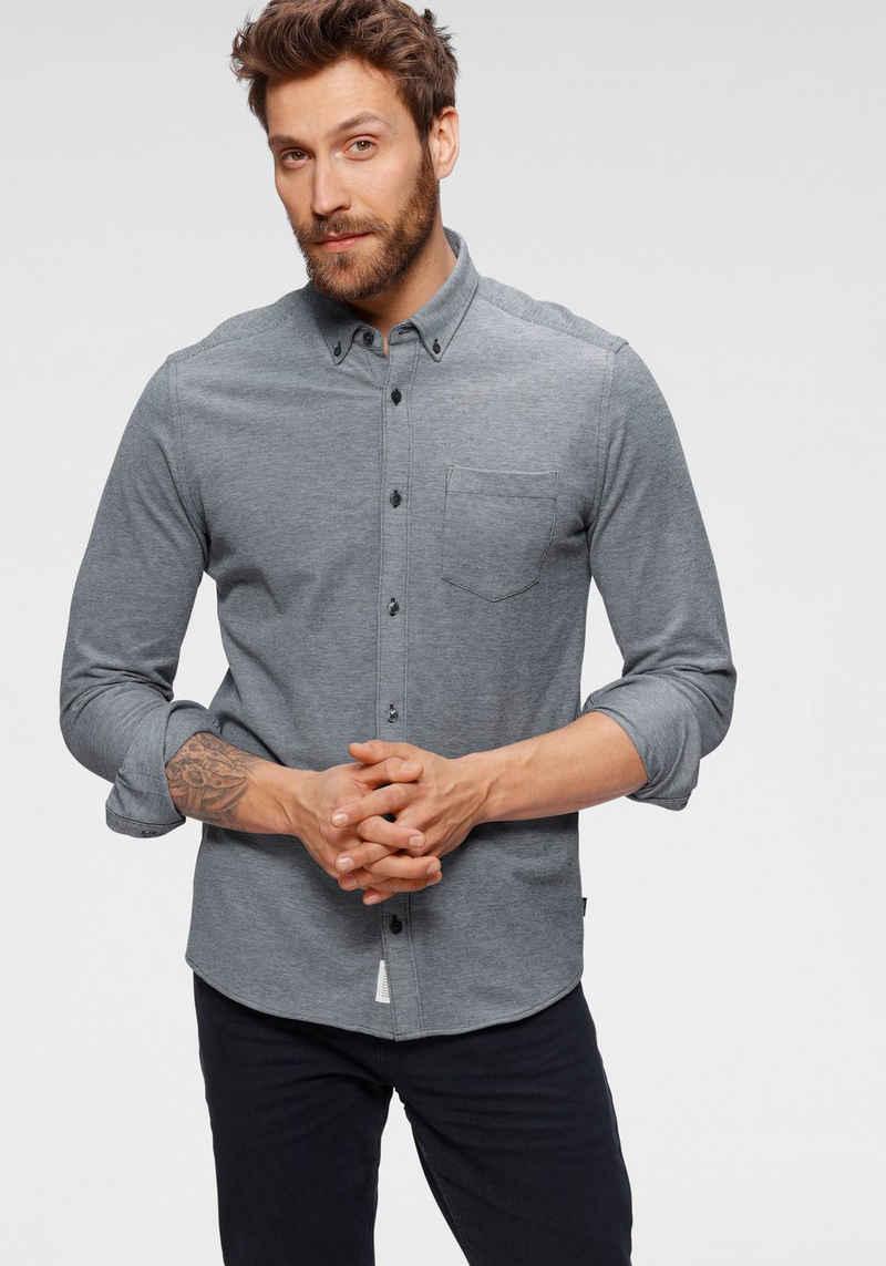 Esprit Langarmhemd mit Knopfleiste