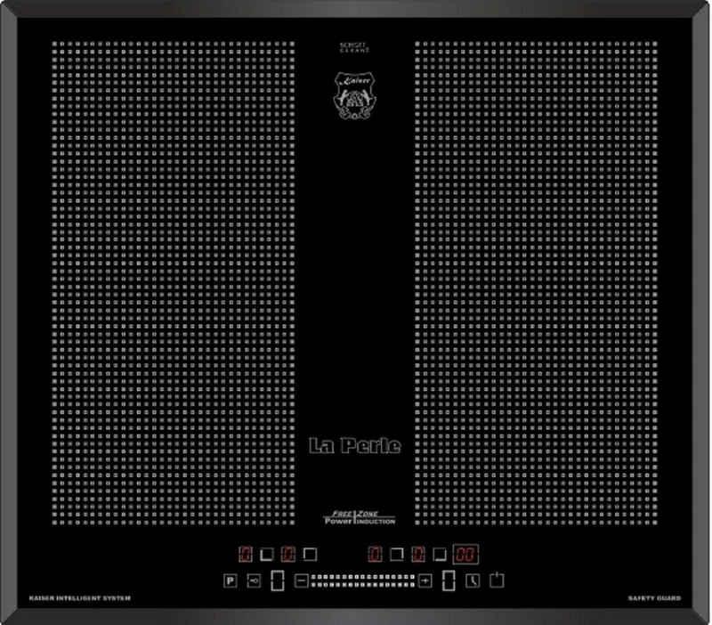 Kaiser Küchengeräte Induktions-Kochfeld KCT 67 FIN La Perle, Kaiser Flex Induktionskochfeld 60 cm mit Funktionsdisplay, Einbau Herd, Autark, Power Booster