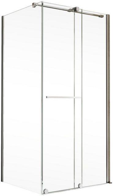 Duschen und Zubehör - Schulte Eckdusche »Toura«, BxT 120x80 cm, Einscheibensicherheitsglas, Höhe inklusive Stabilisationsbügel 2015 mm  - Onlineshop OTTO