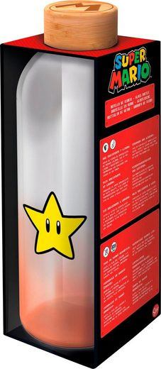 Trinkflasche »Super Mario Glasflasche Stern (1030 ml)«