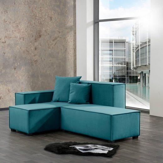 Max Winzer® Wohnlandschaft »MOVE«, Set, Sofa-Set 07 aus 5 Sitz-Elementen, inklusive 2 Zierkissen, individuell kombinierbar
