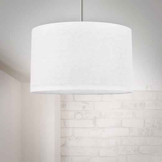 B.K.Licht Pendelleuchte, Hängeleuchte, LED Pendelampe Stoff Textil Lampenschirm Deckenlampe Esstisch Wohnzimmer E27 weiß